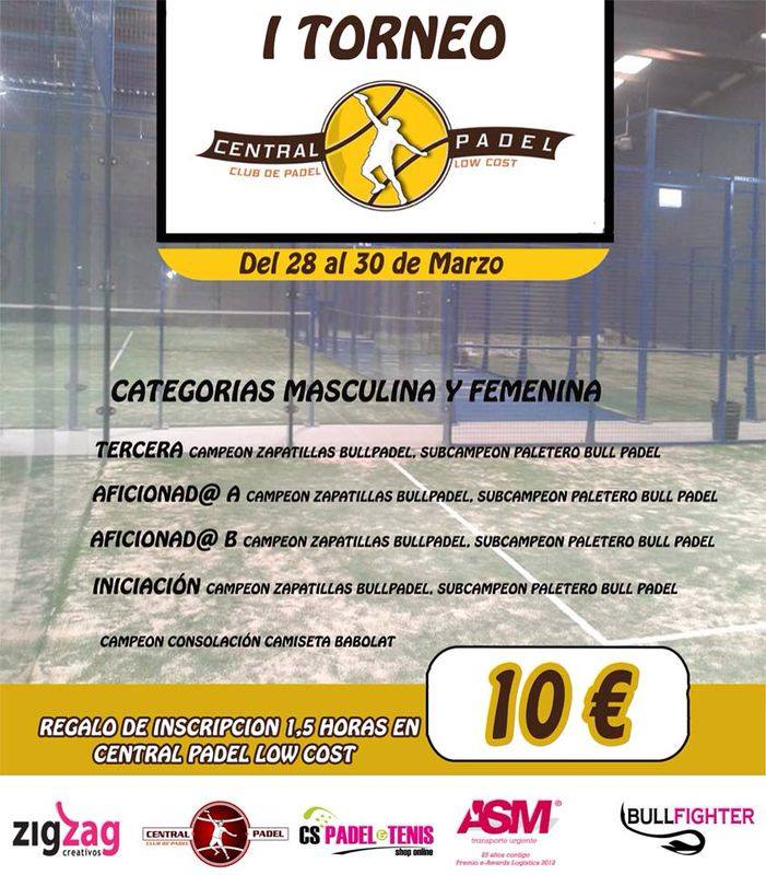 Torneo Central Pádel Low Cost