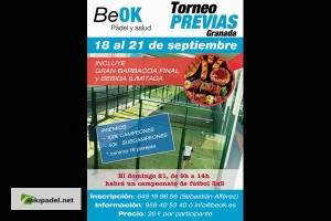 TORNEO PREVIAS GRANADA. BEOK, 18-21 SEPTIEMBRE