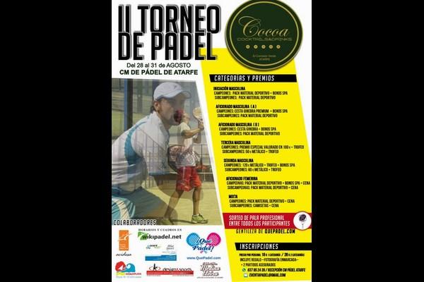 II TORNEO COCOA ATARFE (28-31 AGOSTO). REGALAMOS 8 INVITACIONES.