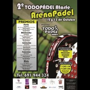 CAMBIO DE FECHA II TORNEO TODOPADEL. ARENA PADEL (ATARFE)