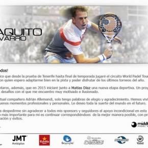 PAQUITO NAVARRO JUGARA CON MAXI GRABIEL HASTA FINAL DE TEMPORADA Y EN 2015 CON MATIAS DIAZ