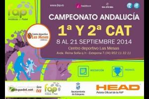 CAMPEONATO DE ANDALUCIA DE 1ª Y 2ª CATEGORIA EN CENTRO DEPORTIVO LAS MESAS. ESTEPONA , 8-21 SEPTIEMBRE