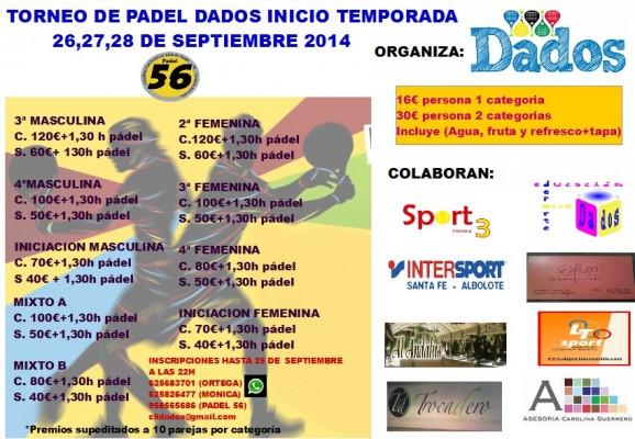 torneo DADOs septiembre 2014