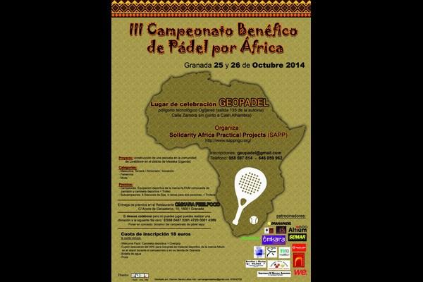 III CAMPEONATO BENÉFICO DE PÁDEL POR ÁFRICA, 25 Y 26 OCTUBRE EN GEOPADEL