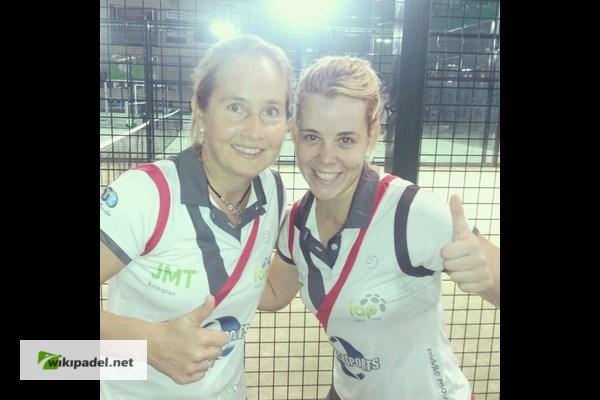 Lucia Martinez y Carolina Navarro tras su victoria a Aragón
