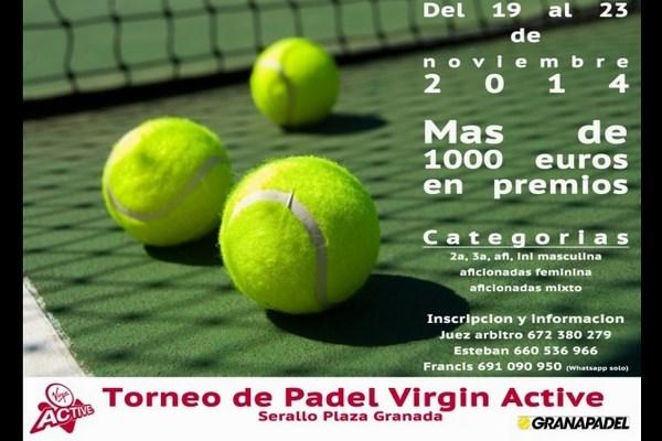 TORNEO DE PADEL VIRGIN ACTIVE. 19-23, NOVIEMBRE