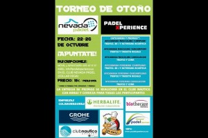 "TORNEO DE OTOÑO ""NEVADA PADEL-PADEL XPERIENCE"". NEVADA PADEL, 22-26 OCTUBRE"