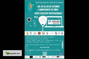 I CAMPEONATO PADEL INTER COLEGIOS PROFESIONALES. REAL SOCIEDAD DE TENIS, 20-25 OCTUBRE