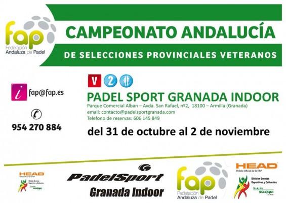 Campeonato Andalucía selecciones provinciales de veteranos