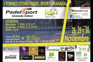 I TORNEO OTOÑO PADEL SPORT GRANADA. 28-30 NOVIEMBRE