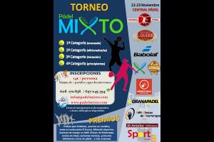 II TORNEO PADEL MIXTO. CENTRAL PADEL, 22-23 NOVIEMBRE