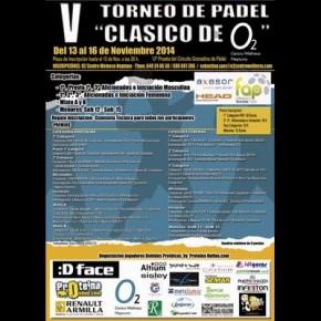 """AMPLIADO PLAZO INSCRIPCIONES AL V TORNEO DE PADEL """"CLASICO 02″. 13-16 DE NOVIEMBRE"""