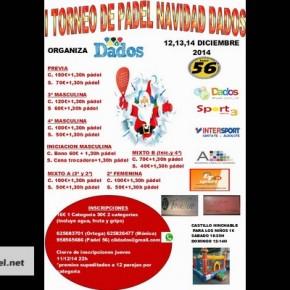 I TORNEO DE PADEL NAVIDAD DADOS. 12-14 DICIEMBRE