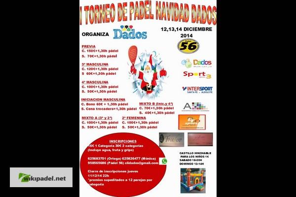 TORNEO DE NAVIDAD DADOS. PADEL 56, 12-14 DICIEMBRE