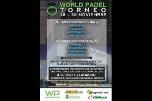 WORLD PADEL TORNEO. 28-30 NOVIEMBRE