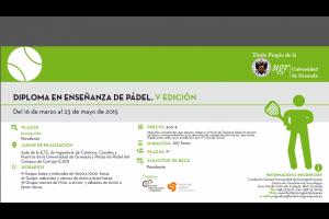 """ABIERTAS INSCRIPCIONES """"DIPLOMA EN ENSEÑANZA DE PADEL"""". UNIVERSIDAD DE GRANADA"""