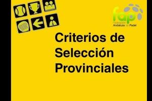 CRITERIOS DEFINITIVOS SELECCIONES PROVINCIALES 2015 (FAP)