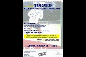 TORNEO CLUB DEPORTIVO CORTIJO DEL AIRE. 7-10 MAYO