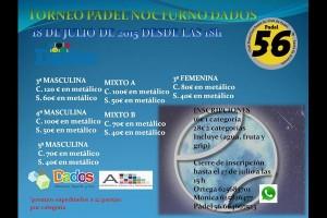 TORNEO PADEL NOCTURNO DADOS. CLUB PADEL 56