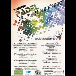 TORNEO PADEL CLUB DE CAMPO, 29-31 ENERO (TORNEO EN JUEGO)