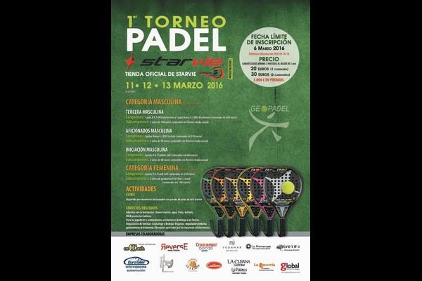 I TORNEO DE PADEL STAR VIE. 11-13 MARZO, GEOPADEL