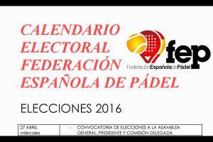 ELECCIONES FEDERACIÓN ESPAÑOLA DE PADEL. ACUERDO HISTÓRICO DE CANDIDATURA ÚNICA POR PARTE DE 16 FEDERACIONES AUTONÓMICAS.