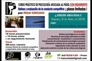 CURSO PSICOLOGIA APLICADA AL PADEL. BEONE, 9 DE ABRIL