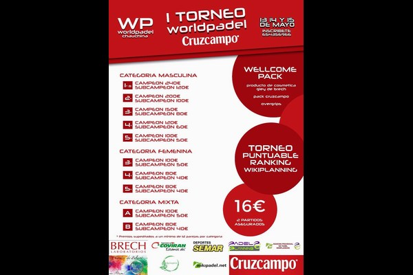 I TORNEO WORLDPADEL CRUZCAMPO, 13-15 MAYO