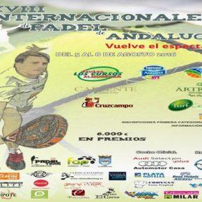 XVIII INTERNACIONALES PADEL DE ANDALUCIA. ALMUÑECAR, 5-8 AGOSTO