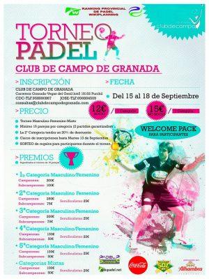 TORNEO PADEL CLUB DE CAMPO DE GRANADA