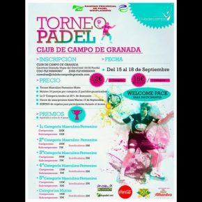 TORNEO PADEL CLUB DE CAMPO DE GRANADA  (EN JUEGO)