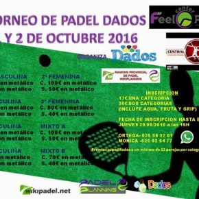 TORNEO PADEL DADOS – FEEL CENTER  (EN JUEGO)