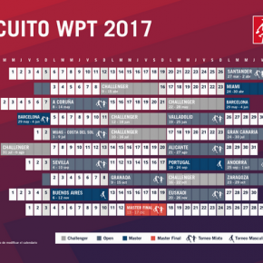 SEDES Y CALENDARIO OFICIAL WORLD PADEL TOUR 2017