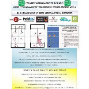 CURSO DE MONITOR DE PADEL. FEEL CENTER, 13-14 MAYO