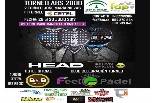 Abiertas inscripciones al V Torneo José María Nievas. Feel Center Pádel, 25-30 de julio.