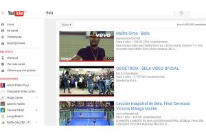 Los 5 vídeos más vistos de Bela en Youtube .