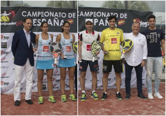 campeones de España de pádel