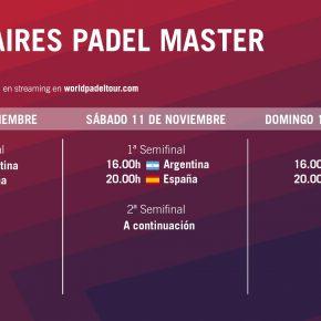 Streaming WPT:  en directo cuartos de final del Buenos Aires Pádel Masters
