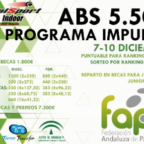 Torneo ABS 5.500 programa Impulso. Padel Sport Granada Indoor, 7-10 diciembre.