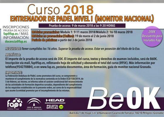 curso monitor nacional en Granada