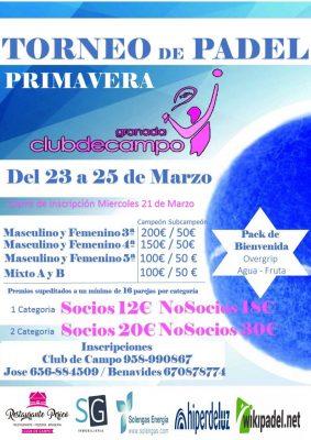 Torneo de Pádel Club Pimavera Club de Campo