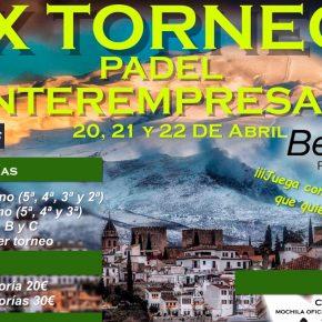 IX edición del torneo interempresas. BeOK Pádel y Salud, 20-22 de Abril.