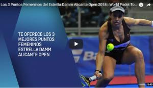Video puntazos Estrella Damm Alicante Open 2018