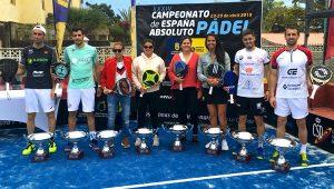 Josete Rico-Victor Ruiz y M Carmen Diaz-Magüi Serna, Campeones de España de Pádel 2018