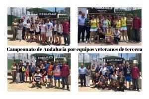Campeonato de Andalucía por Equipos Veteranos de tercera: La Cubierta de Vicar y Arruzafa, campeones. Plata y ascenso para PadelAkademia y Spadel Granada.