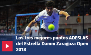 Vídeos Puntazos Estrella Damm Zaragoza Open 2018