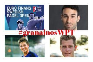 Suecia enloquece con el pádel. Tres #granainosWPT en cuadro del Euro Finans Swedish Open.