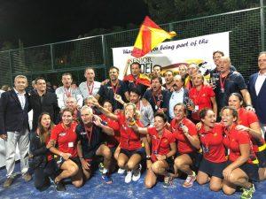 España hace pleno en el Mundial de Pádel Senior 2018