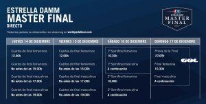 El Estrella Damm Master Final 2018 en busca de sus maestr@s